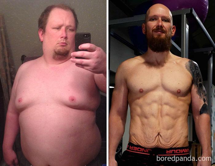 Человек сильно похудел