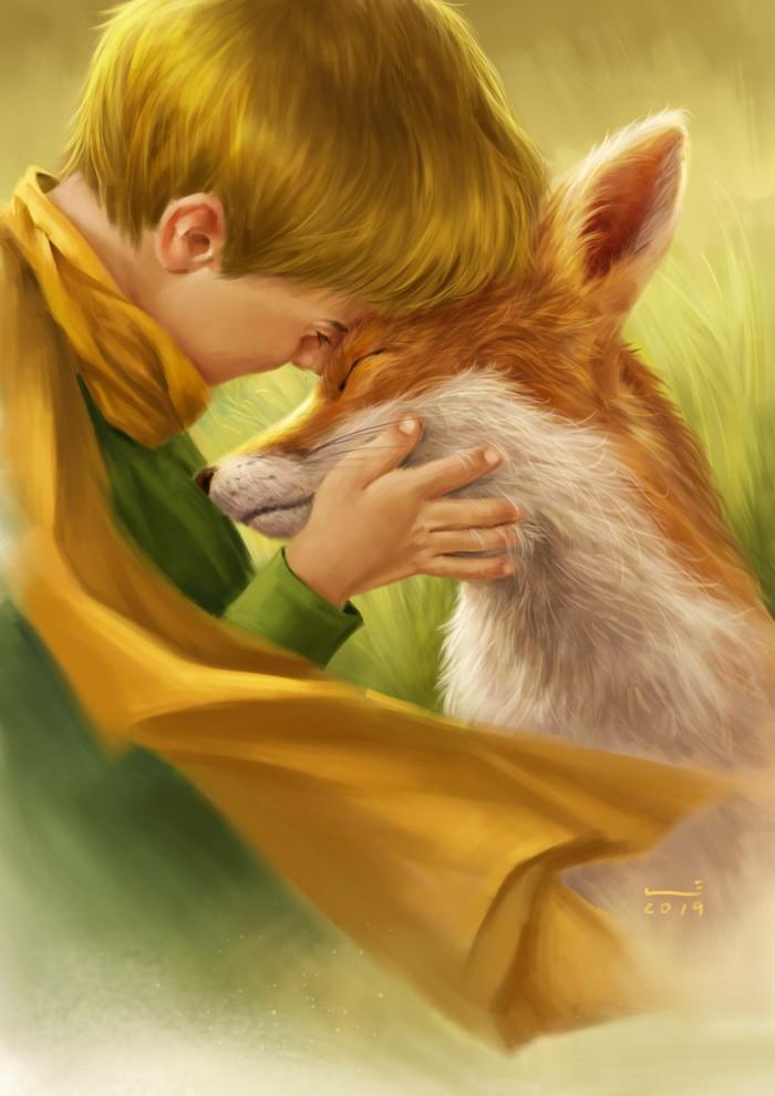 рисунки маленький принц и лис удивительно быстрый, удобный